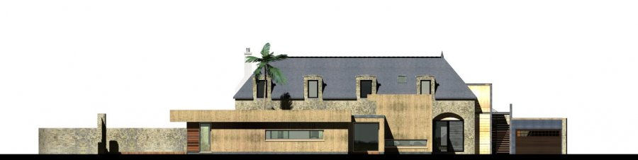 Construction d 39 une maison vannes atelier riguidel architectes etel morbihan for Demarche construction maison